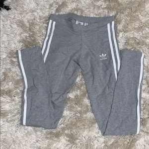 Women's grey addidas leggings